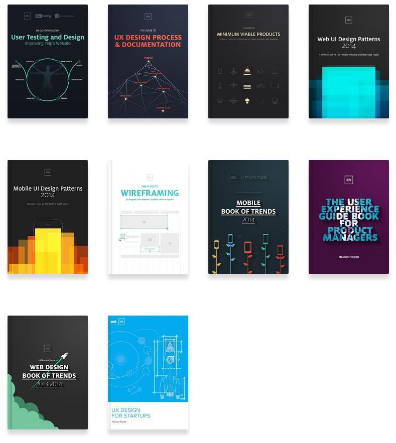 Les différentes couvertures des livres